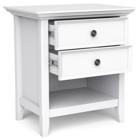 White | Amherst Bedside Table