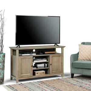 Distressed Grey | Amherst Tall TV Stand