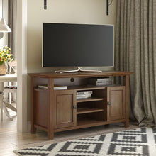Load image into Gallery viewer, Medium Saddle Brown | Amherst Tall TV Stand