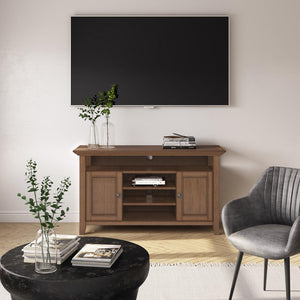 Rustic Natural Aged Brown | Amherst Tall TV Stand