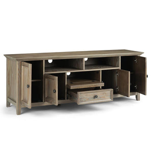 Distressed Grey | Amherst 72 inch Wide TV Media Stand