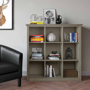 Distressed Grey | Artisan Nine Cube Bookcase & Storage