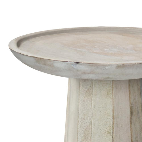White Wash | Dayton Wooden Accent Table