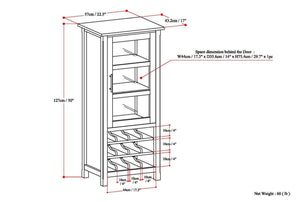 Rich Tobacco Brown | Avalon Wine Rack & Storage Cabinet