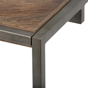 Avery 48 x 24 inch Coffee Table in Distressed Java Brown Wood Inlay