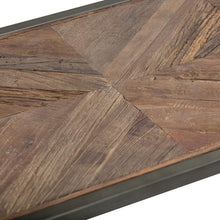 Load image into Gallery viewer, Avery 54 x 16 inch Console Sofa Table in Distressed Java Brown Wood Inlay