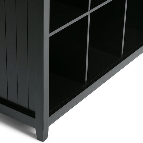 Black | Acadian Nine Cube Bookcase & Storage Unit