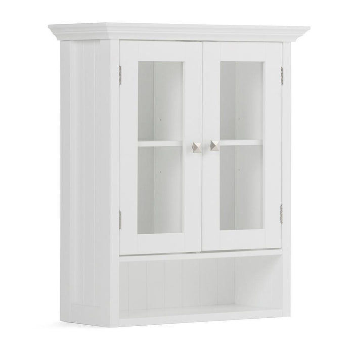 Pure White | Acadian Double Door Wall Cabinet