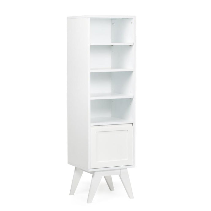 Pure White | Draper Mid Century Bath Storage Tower