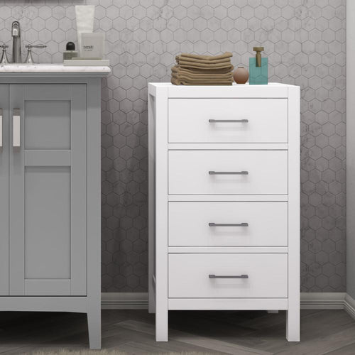 Pure White | Gatsby Four Drawer Floor Storage Cabinet