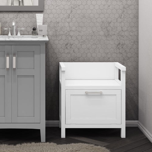 Pure White | Gatsby Storage Hamper Bench