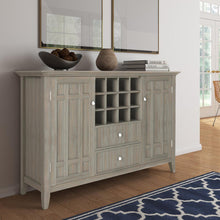 Load image into Gallery viewer, Distressed Grey | Bedford Sideboard Buffet & Winerack