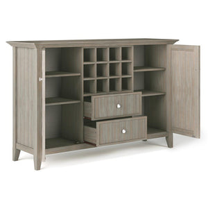 Distressed Grey | Bedford Sideboard Buffet & Winerack
