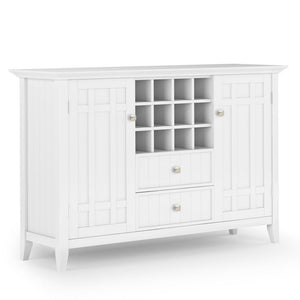 White | Bedford Sideboard Buffet & Winerack