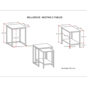 Bellgrove Nesting 2 pc Table