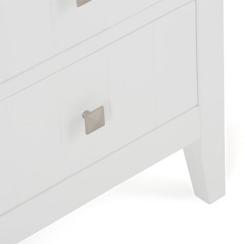Pure White | Acadian Four Drawer Floor Cabinet