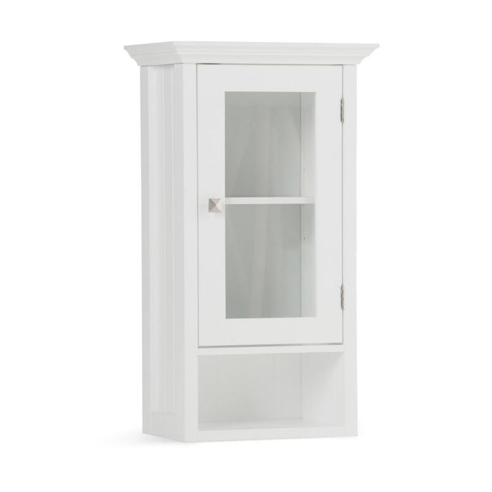 Pure White | Acadian Single Door Wall Cabinet