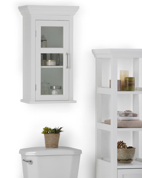 Pure White | Avington Single Door Wall Cabinet