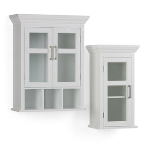 Avington Two Door Wall Cabinet with Cubbies