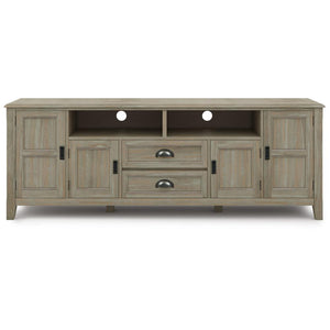 Distressed Grey | Burlington 72 inch TV Media Stand