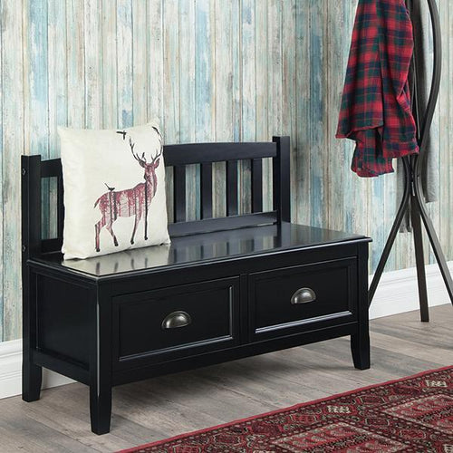 Black | Burlington Entryway Bench