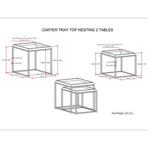 Carter Tray Top Nesting 2 Pc Table