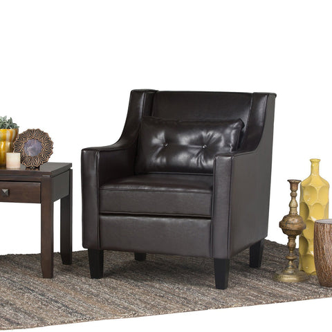 Tanners Brown PU Faux Leather | Ashland Faux Leather Club Chair