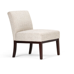 Upton Linen Look Fabric Accent Chair