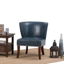 Load image into Gallery viewer, Denim Blue | Jamestown Bonded Leather Accent Chair