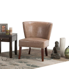 Load image into Gallery viewer, Dark Taupe | Jamestown Bonded Leather Accent Chair