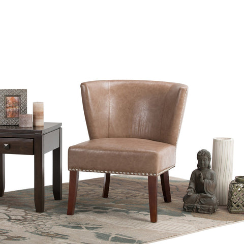 Dark Taupe | Jamestown Bonded Leather Accent Chair