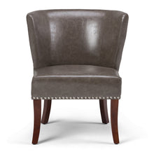 Load image into Gallery viewer, Elephant Grey | Jamestown Bonded Leather Accent Chair