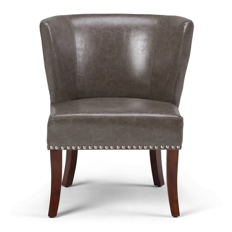 Elephant Grey | Jamestown Bonded Leather Accent Chair