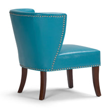 Load image into Gallery viewer, Mediterranean Blue | Jamestown Bonded Leather Accent Chair