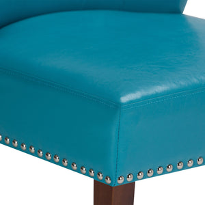 Mediterranean Blue | Jamestown Bonded Leather Accent Chair