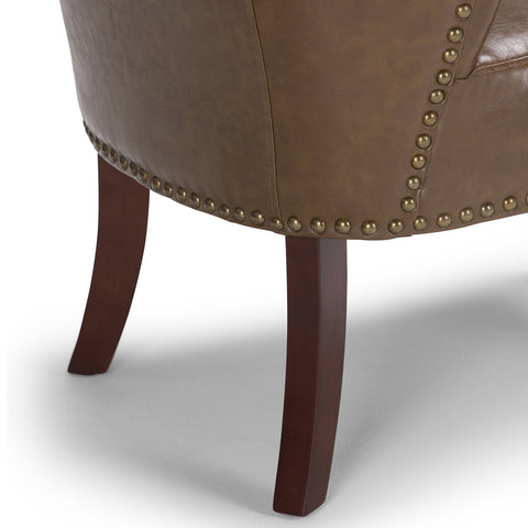 Saddle Brown | Jamestown Bonded Leather Accent Chair