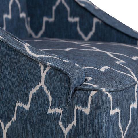 Cobalt Blue | Hayworth Moroccan Pattern Accent Chair