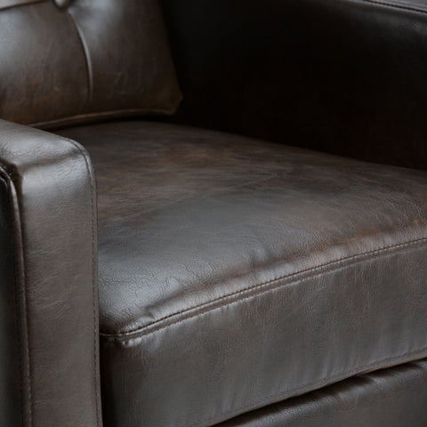 Distressed Brown | Carrigan Bonded Leather Club Chair