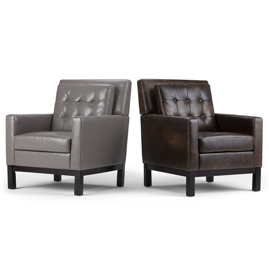 ... Distressed Brown | Carrigan Bonded Leather Club Chair ...