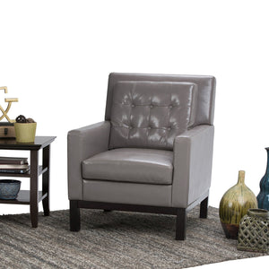 Taupe Bonded Leather | Carrigan Club Chair