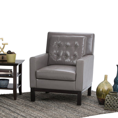 Taupe Carrigan | Carrigan Bonded Leather Club Chair