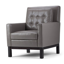 Load image into Gallery viewer, Taupe Bonded Leather | Carrigan Club Chair