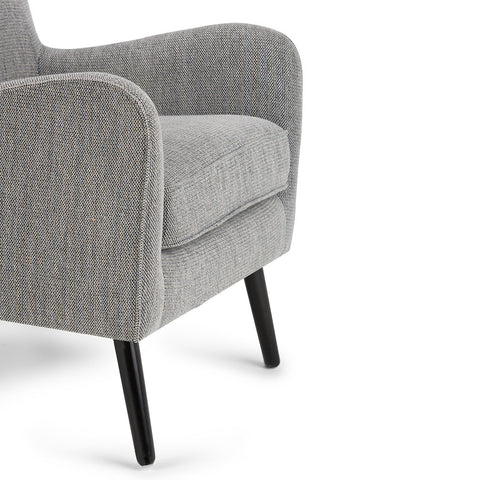 Dysart Mid Century Arm Chair in Grey Tweed
