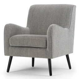 Grey Tweed Fabric | Dysart Mid Century Arm Chair