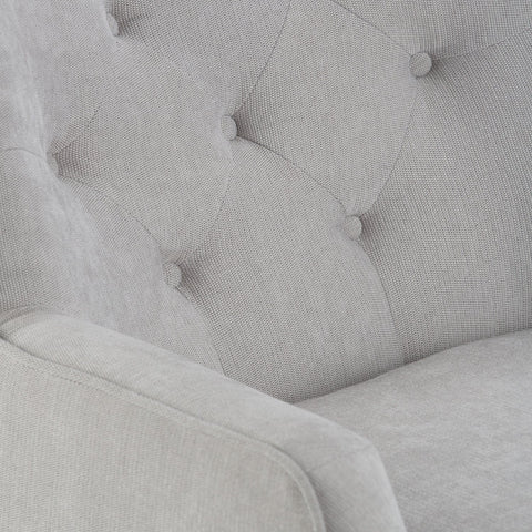 Light Dove Grey | Grange Tufted Club Chair