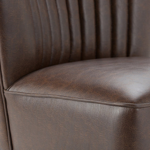 Distressed Brown | Hollyford Air Leather Accent Chair