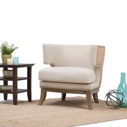 Natural | Hoffman Linen Look Accent Chair