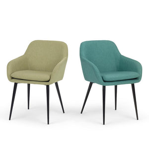 Light Green Linen Look Polyester | Marley Dining Side Chair