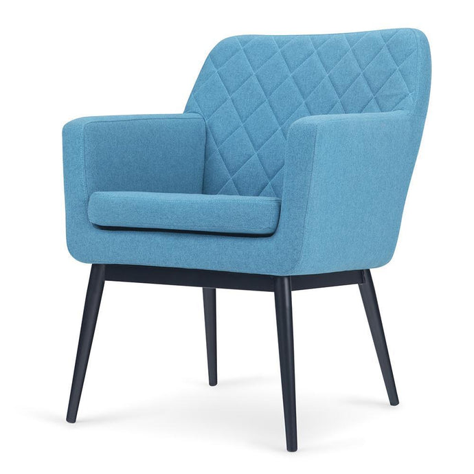 Blue | Alegra Quilted Back Accent Chair