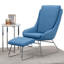 Carwyn Accent chair with Footstool